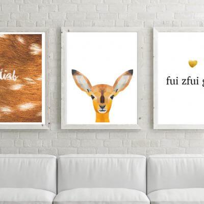 kartlerei poster shop drucken bayrischer spruch bayrisch poster set5 400x400 - Poster und Bilder