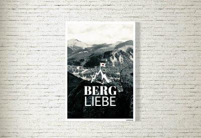 kartlerei poster shop bilder drucken bayrischer bayrisch bergliebe s w 400x275 - Poster & Bilder