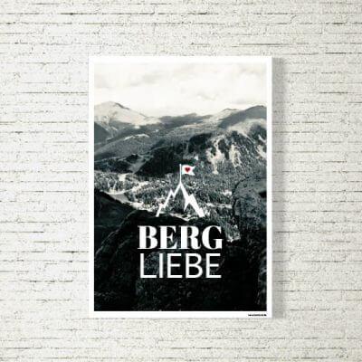 Poster/Bild Bergliebe s/w