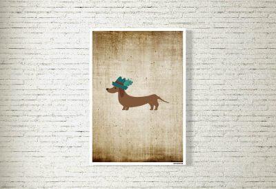 kartlerei poster shop bilder drucken bayrischer bayrisch dackel retro 400x275 - Poster & Bilder