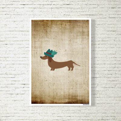 kartlerei poster shop bilder drucken bayrischer bayrisch dackel retro 400x400 - Poster und Bilder