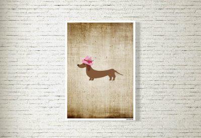 kartlerei poster shop bilder drucken bayrischer bayrisch dackeldame 400x275 - Poster & Bilder