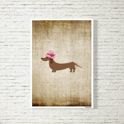 kartlerei poster shop bilder drucken bayrischer bayrisch dackeldame 400x400 - Poster und Bilder