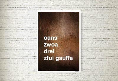 kartlerei poster shop bilder drucken bayrischer bayrisch zfui gsuffa 400x275 - Poster & Bilder