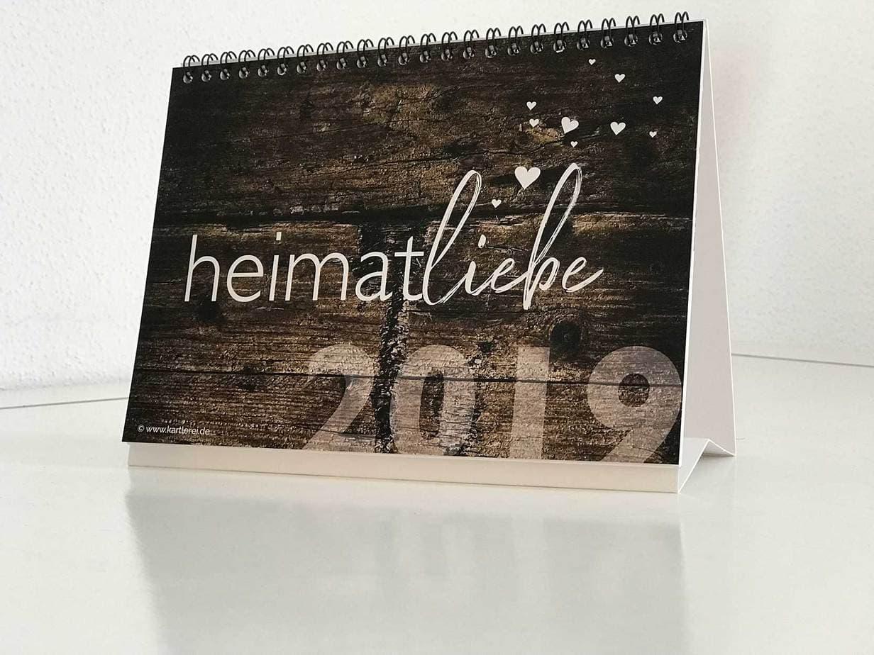 kartlerei kalender 2019 bayerischer kalender heimatliebe bayern - Bayrischer Kalender | heimatliebe 2019 | Tischkalender