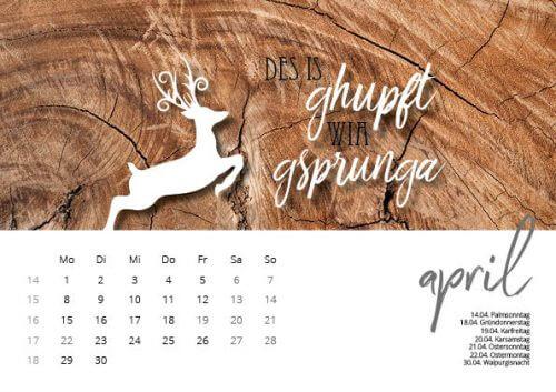 Bayrischer Kalender | heimatliebe 2019 | 14,50 €