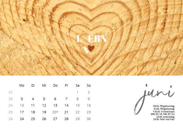 Bayrischer Kalender 2019 Juni