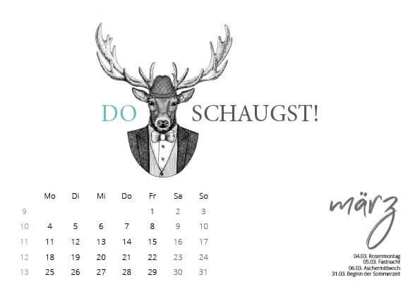 kartlerei kalender 2019 bayerischer kalender heimatliebe maerz - Bayrischer Kalender | heimatliebe 2019 | Tischkalender