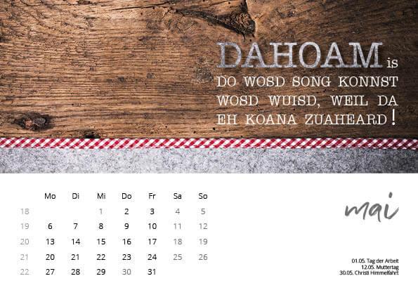 Bayrischer Kalender 2019 Mai
