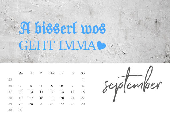 Bayrischer Kalender 2019 September