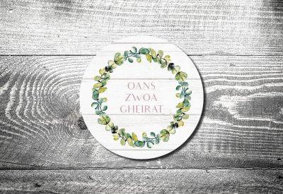 kartlerei bierdeckel drucken hochzeit save the date einladungskarte tischdeko bayrische hochzeit heiraten in tracht21 400x275 - Bierdeckel ABC