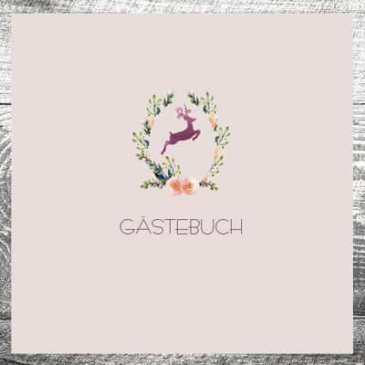Gästebuch Hirschkranz lila | ab 55,00 €