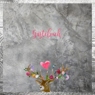 Gästebuch Flower-Power-Hirsch | ab 55,00 €