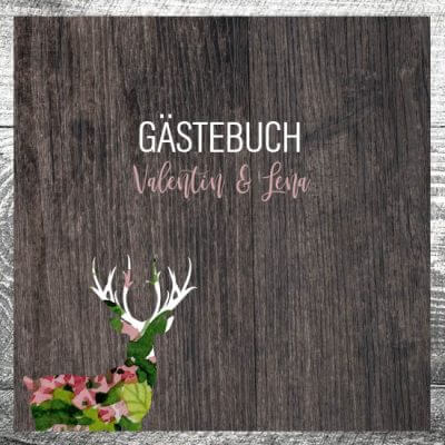 Gästebuch Blumenhirsch | ab 55,00 €