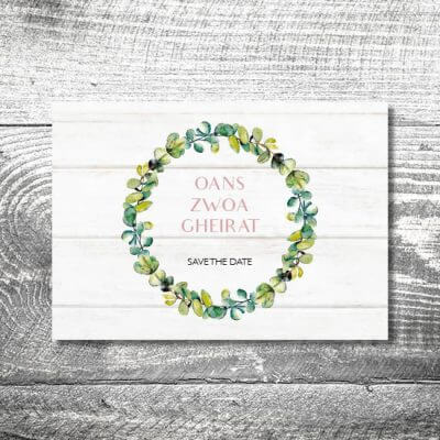 Save the Date Bayrisches Vintage | 2-Seitig | ab 0,70 €