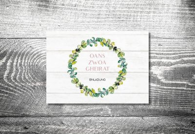 kartlerei karten drucken hochzeitseinladung heiraten bayrisch trachtenhochzeit bayrisches vintage4 400x275 - Trachtenhochzeit