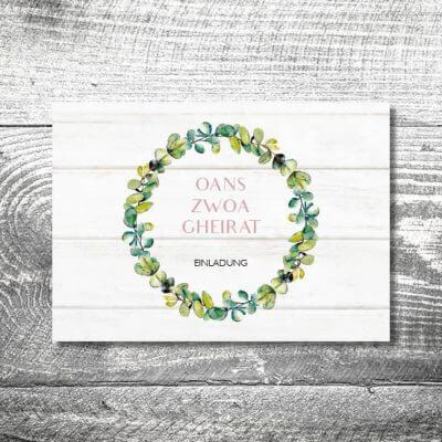 Hochzeit Bayrisches Vintage | 4-Seitig | ab 1,00 €