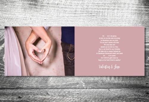 Hochzeit Blumenhirsch | 4-Seitig