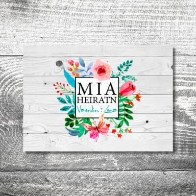 Hochzeit Blumenliebe | 2-Seitig