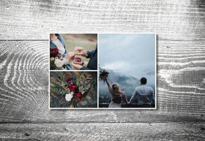 kartlerei karten drucken hochzeitseinladung heiraten bayrisch trachtenhochzeit dankeskarten2 400x275 - Dankeskarte mit Fotostreifen