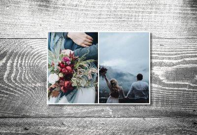 kartlerei karten drucken hochzeitseinladung heiraten bayrisch trachtenhochzeit dankeskarten3 400x275 - Dankeskarte mit Fotostreifen