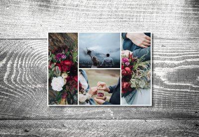 kartlerei karten drucken hochzeitseinladung heiraten bayrisch trachtenhochzeit dankeskarten4 400x275 - Dankeskarte mit Fotostreifen