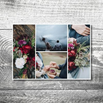Danke Flower-Power-Hirsch | 2-Seitig | ab 0,70 €