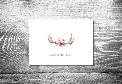 kartlerei karten drucken hochzeitseinladung heiraten bayrisch trachtenhochzeit floralgeweih 400x275 - Change the Date