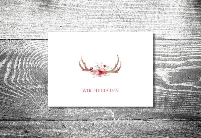 kartlerei karten drucken hochzeitseinladung heiraten bayrisch trachtenhochzeit floralgeweih4 - Hochzeitscountdown Freebie