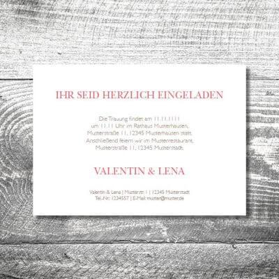 Hochzeit Floralgeweih | 2-Seitig