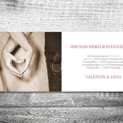 Hochzeit Floralgeweih | 4-Seitig