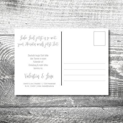 Save the Date Flower-Power-Hirsch Postkarte | 2-Seitig | ab 0,70 €