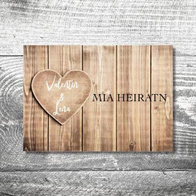 Hochzeit Herzl | 4-Seitig | ab 1,00 €