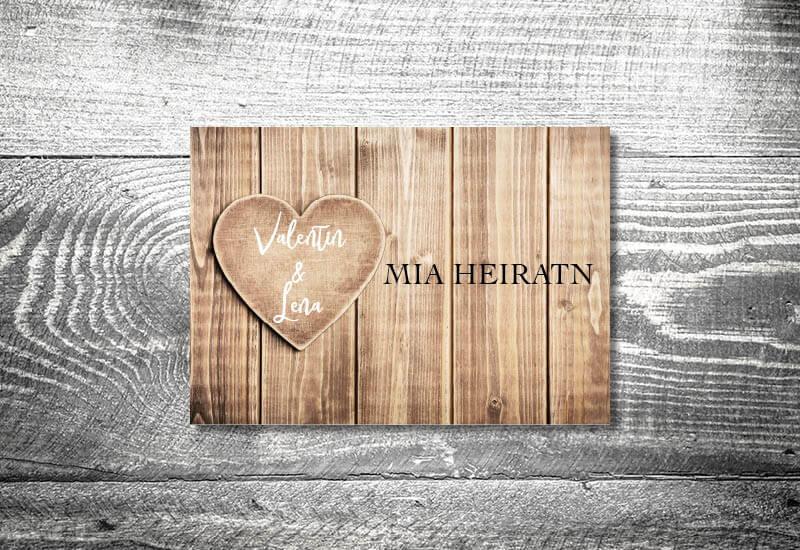 kartlerei karten drucken hochzeitseinladung heiraten bayrisch trachtenhochzeit herzl4 - Hochzeitscountdown Freebie