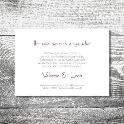 Hochzeit Hirschkranz Lila | 2-Seitig  | ab 0,70 €