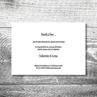 Danke Holz rustikal | 2-Seitig