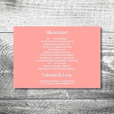Hochzeit Romantik Rosa | 2-Seitig  | ab 0,70 €