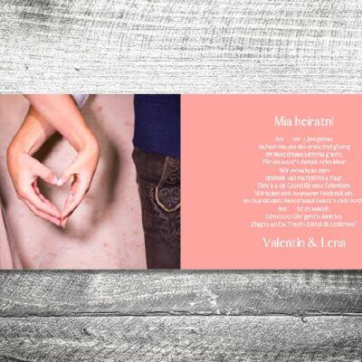 Hochzeit Romantik Rosa | 4-Seitig | ab 1,00 €