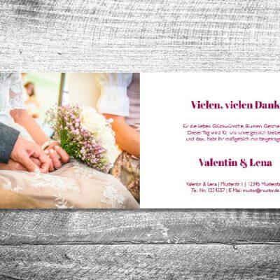 Danke Verliebt Verlobt Verheiratet | 4-Seitig | ab 1,00 €
