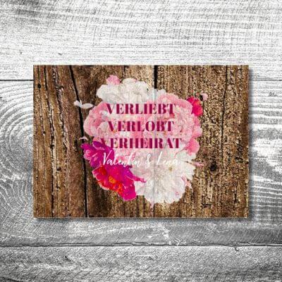 Hochzeit Verliebt Verlobt Verheiratet | 4-Seitig | ab 1,00 €