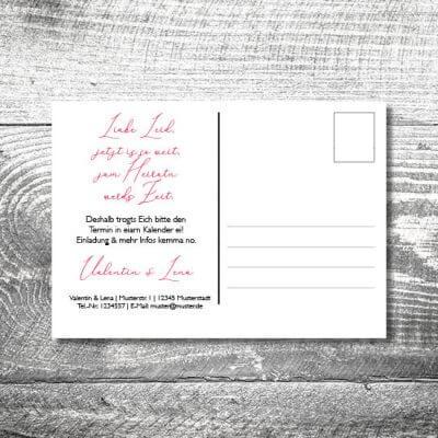 Save the Date Trachtenhochzeit Postkarte | 2-Seitig | ab 0,70 €