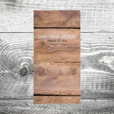 Menükarte Holz Rustikal