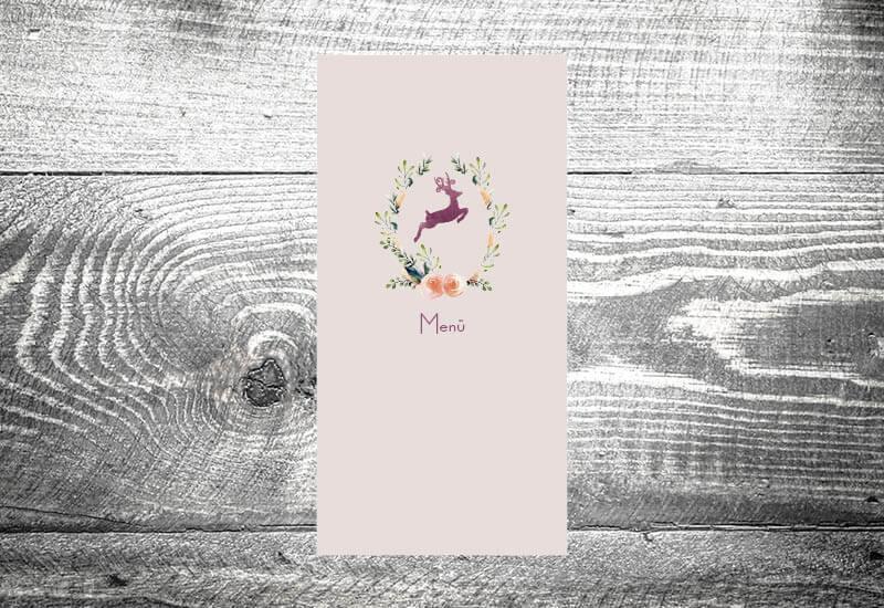 kartlerei karten drucken menuekarten heiraten bayrisch trachtenhochzeit hirschkranz - Hochzeitspapeterie – Unser Magazin