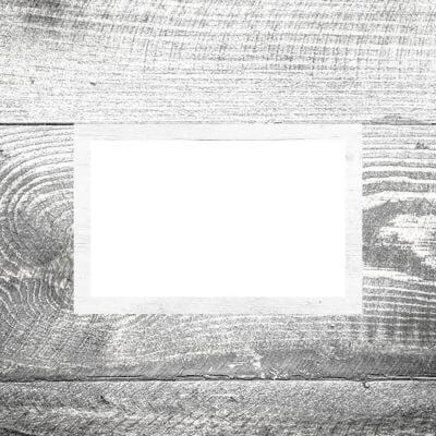 Tischkarte Holz weiß II