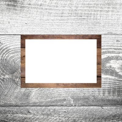 Tischkarte Holz Rustikal