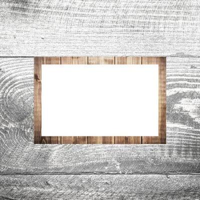 Tischkarte Holz hell II