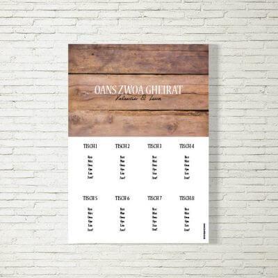 Tischplan Hochzeit Holz Rustikal