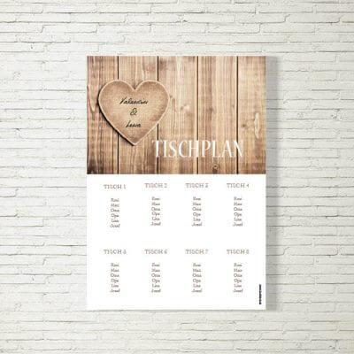 Tischplan Hochzeit Herzl