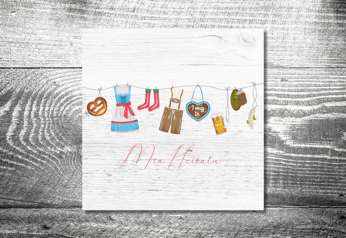 kartlerei hochzeitseinladung bayrische einladungskarte heiraten in bayern - Hochzeitspapeterie – Unser Magazin