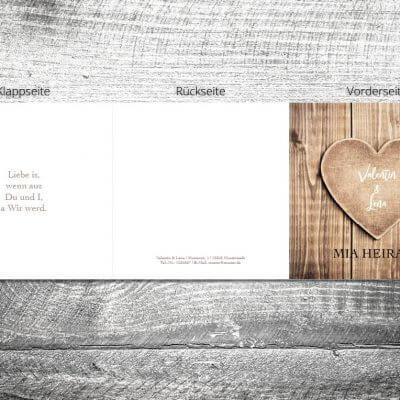 Hochzeit Herzl | 6-Seitig | ab 1,90 €
